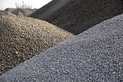 sten, sand, grus